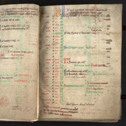 March, In The Calendar Of A Psalter(011ADD000038819U00002000)